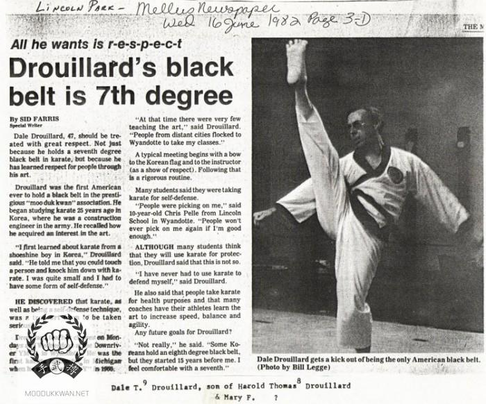 Newspaper Article on Dale Drouillard