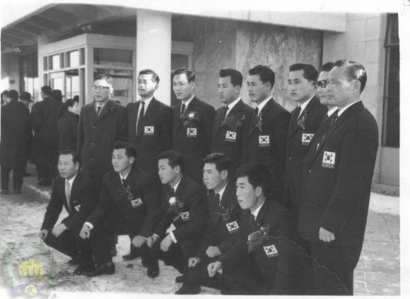 first team to compete in Japan from UOR 1960 at Kimpo airport