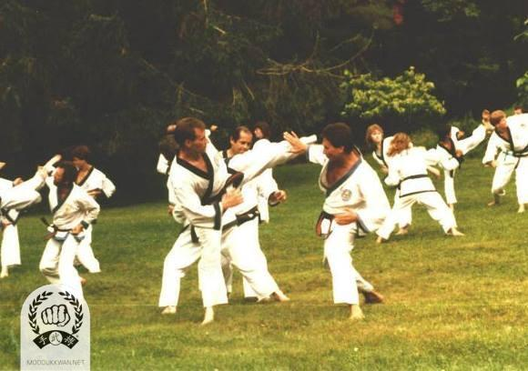 The 1987 Summer Camp at the Pathwalk Center, NY. Ron Cechner (18450), Jeff Moonitz (17650), Russ Hanke (4137), Andy Ah Po (10187), Sue Robin (19459) are showing in this photo.