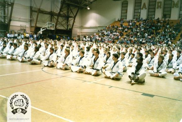 The begining ceremony for the 1988 US Nationals in West Point, New York, USA.