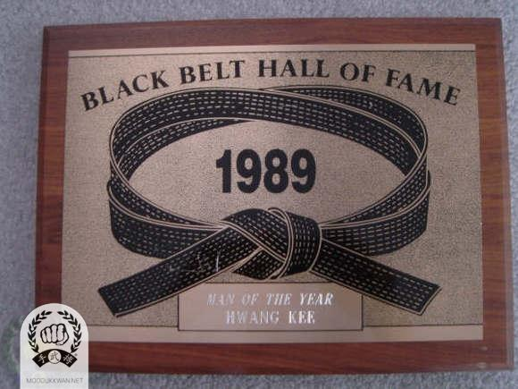 Man of the Year by Black Belt Magazine; The founder was inducted as the Man of Year in 1989