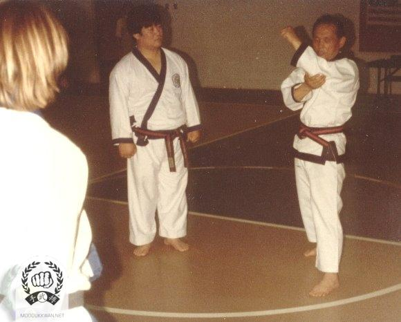 The Fonder's clinic in Texas during 1979. Wha Yong Chung (410) is assisting the clinic.