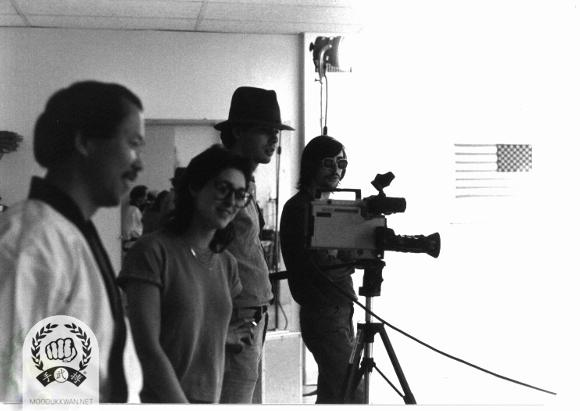 The 1st video production from the US Federation. It covered all basic moves both in hand and foot techniques, and Ki Cho Hyungs, Pyung Ahn Hyungs, and Passai. This picture took at the US Headquarter's school in Springfield, NJ, USA