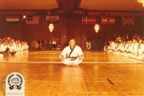 The founder's preparation for the Hwa Sun Hyung demonstration at the 4th Internationals.