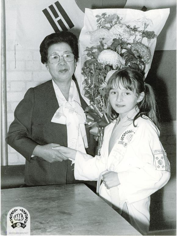 Mrs. Hwang Kee's visit to England in 1983.
