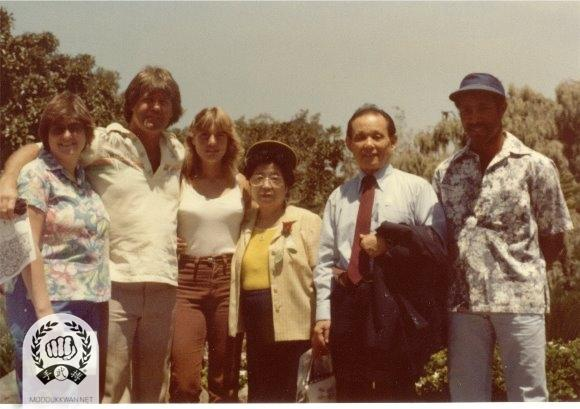 The founder and his wife's visit to San Diego in 1983. Fred Kenyon (14345) and Llyod Francis (12924) are showing.