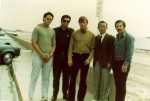 Martinov Sa bom Nim with the Founder Hwang Kee and several other students, including Chuck Norris, Sa bom Nim, and Pat Johnson, Sa Bom Nim, during the Founder's early visit to the US in the early 70s.