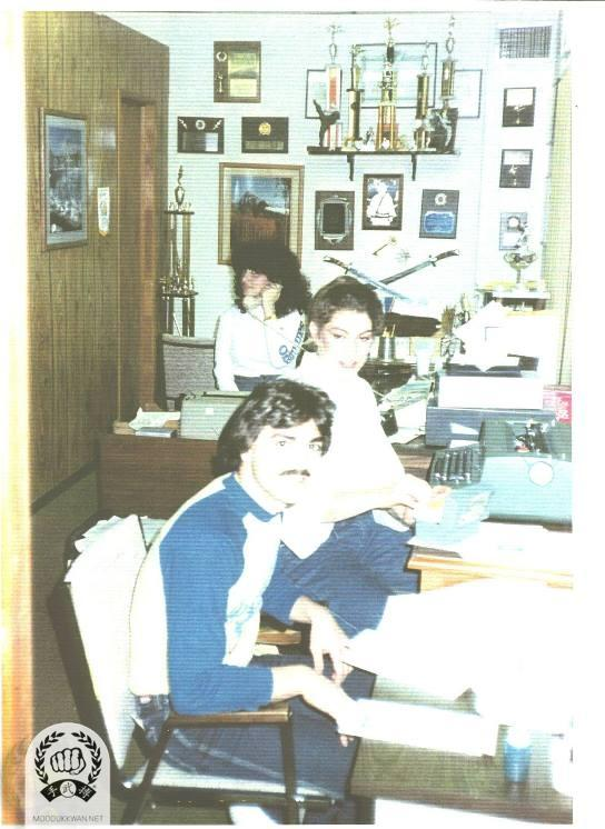 US Headquaters office in Springfield office during the 1978. Natalie D'Alessio, and April Pampalone, and Danny are showing at the photo.
