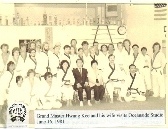 The founder and his wife visited Oceanside, CA during 1092. Ted and Keiko Mason are seated with them.