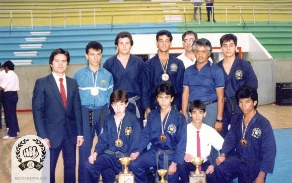 Ramiro Guzman (16354) with Mexico team in Mexico during 1985